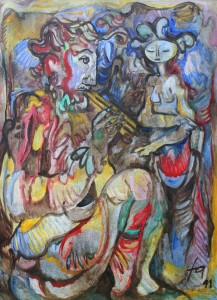 Pan, Ölgemälde, 80 x x112, EUR 5500