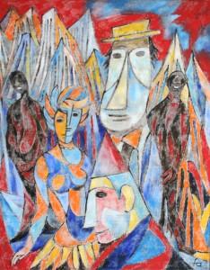 Rhapsody in blue, Gershwin, Ölgemälde, 80 x 100, EUR 4500