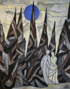"""""""Arnold Schönberg - Verklärte Nacht, Opus 4"""", Öl auf Leinen, 100×80, EUR 4000"""