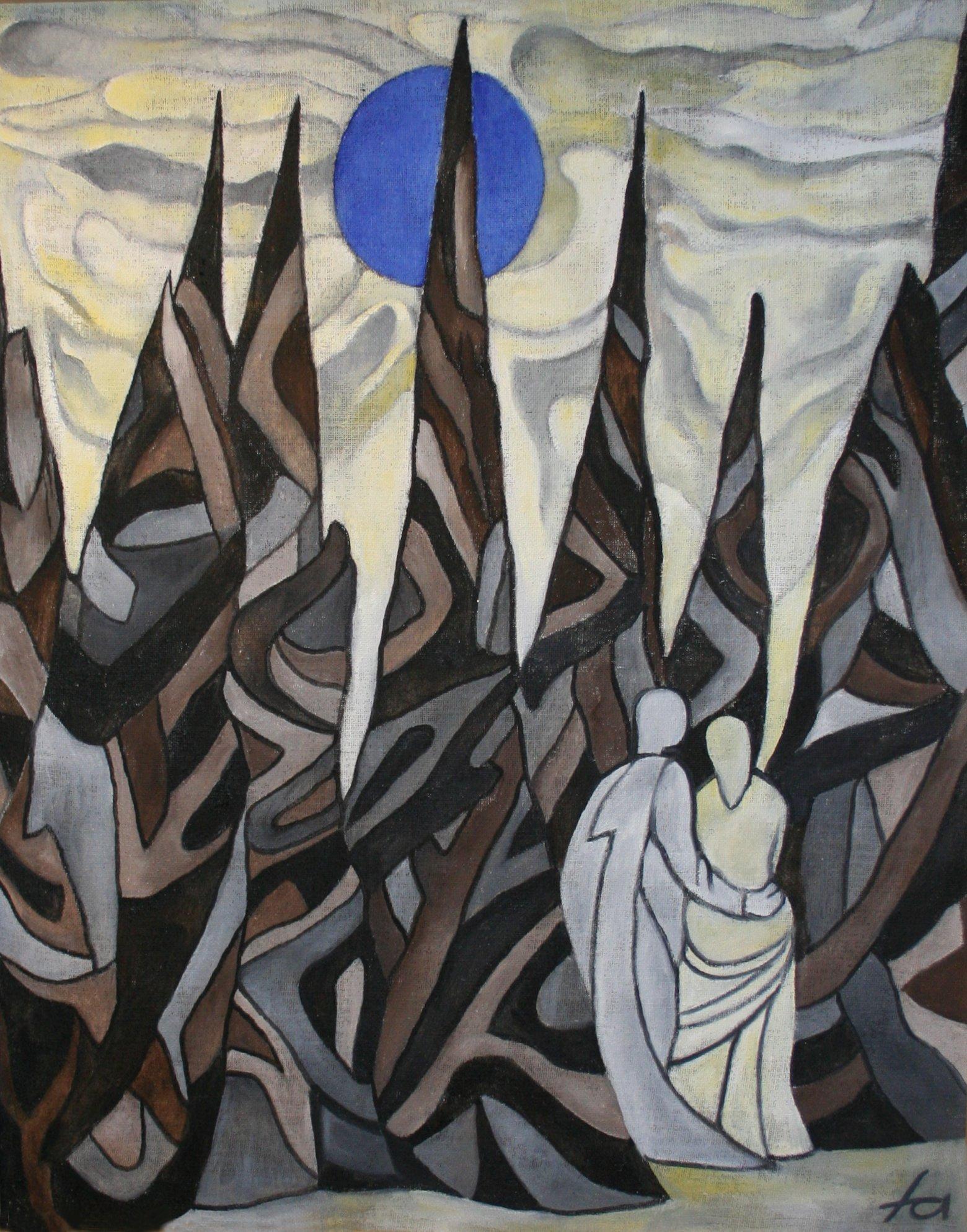 """""""Arnold Schönberg - Verklärte Nacht, Opus 4"""", Öl auf Leinen, 100×80, Foto: ROESSLER PR"""