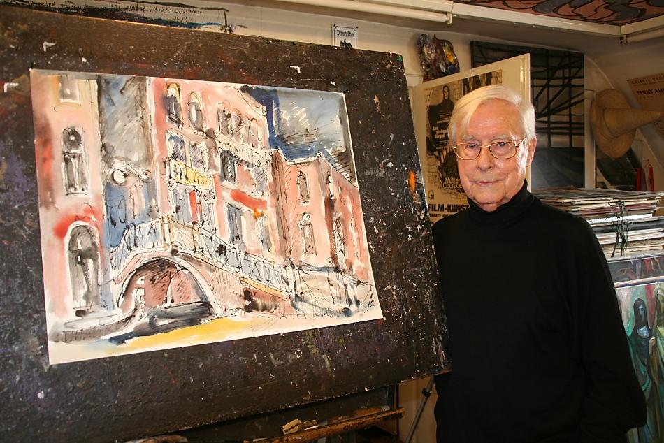 Ferry Ahrlé in seinem Atelier