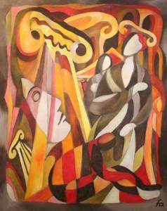 """""""Sergei Sergejewitsch Prokofjew - Die Sinfonie Nr. 1 in D-Dur, Opus 25"""", Öl auf Leinen, 100×80, EUR 6200"""