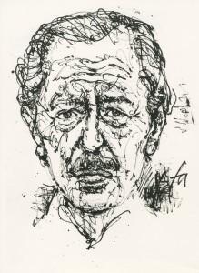 """Ferry Ahrlé, Fernsehserie HR """"Sehr ähnlich, wer soll's denn sein?"""", Porträt von Paul Dahlke, 1980"""