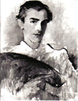 Ferry Ahrlé, Selbstportrait, 1948, Öl