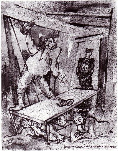 Ferry Ahrlé - Theater in Tusche - Brecht, Herr Puntila und sein Knecht Matti