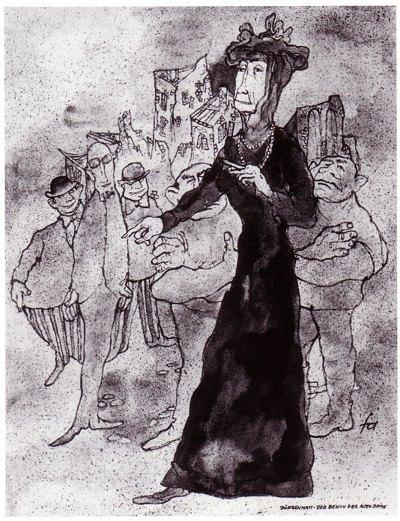 Ferry Ahrlé - Theater in Tusche - Dürrenmatt, Der Besuch der alten Dame
