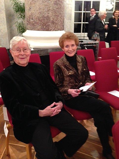 Ferry und Sigrid Ahrlé bei der Verleihung des Hessischen Verdienstordens an Ferry Ahrlé 3.12.2014