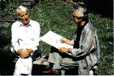 Johannes Heesters und Ferry Ahrlé