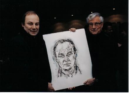 Klaus Maria Brandauer, 1997, mit Ferry Ahrlé