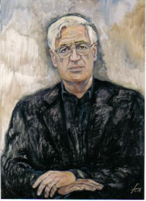 Prof. Peter Eschberg, Öl auf Leinwand, 1996 (Ferry Ahrlé)