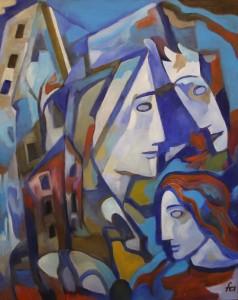 Ferry Ahrlé, Eric Satie Cinque Nocturnes, 80 x 100 cm, Foto: ROESSLER PR EUR 5000