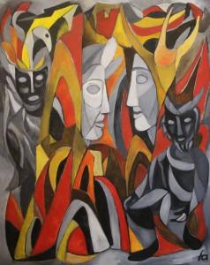 Ferry Ahrlé, Robert Schumann 4. Sinfonie d-Moll op. 120, 80 x 100 cm, Foto: ROESSLER PR EUR 5000