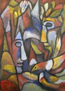 Ferry Ahrlé, Wer hat Recht?, 50 x 70 cm, Foto: ROESSLER PR EUR 4000