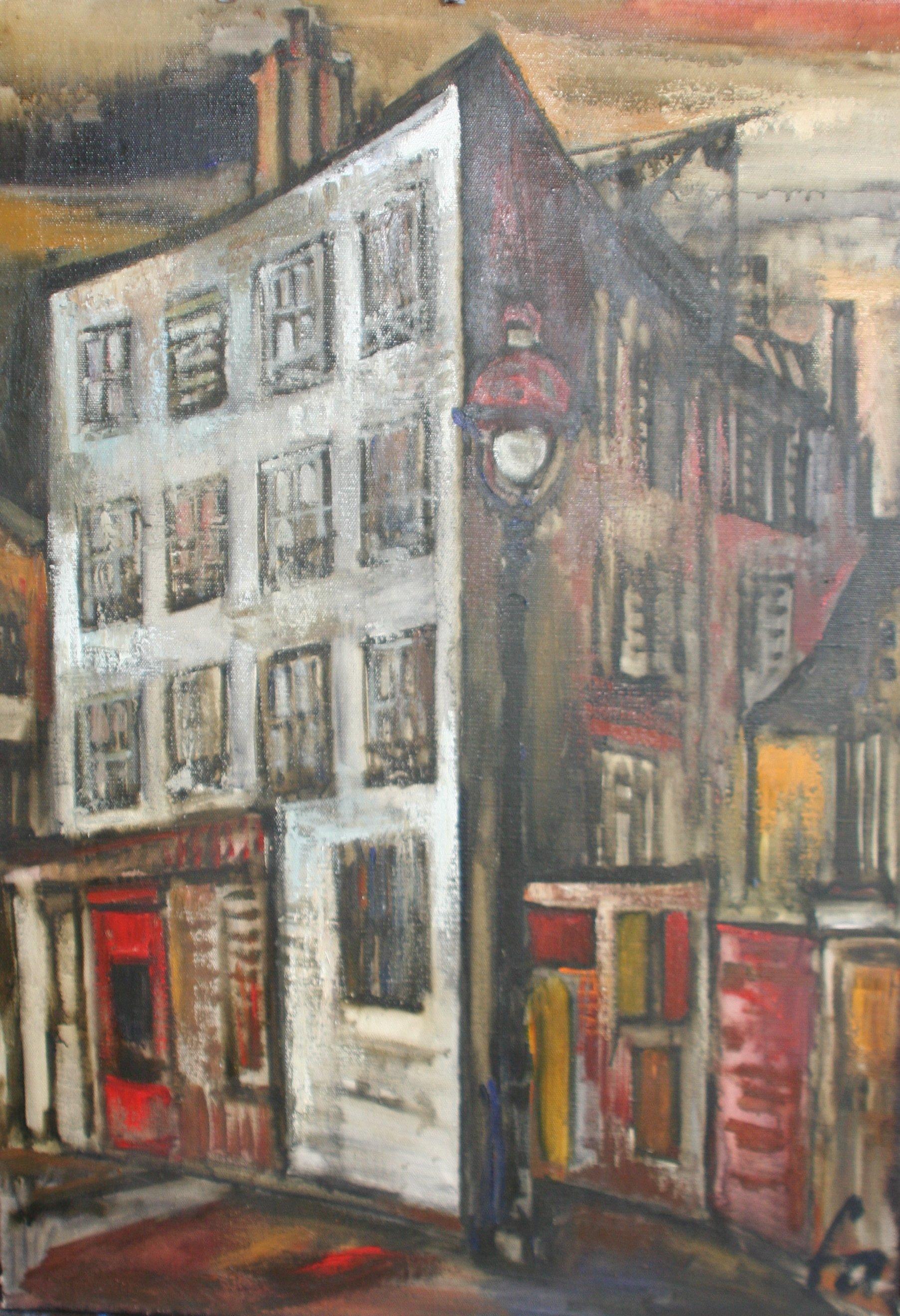 """""""Das Marais-Viertel"""", Öl auf Leinwand, 70×100, Foto: ROESSLER PR"""