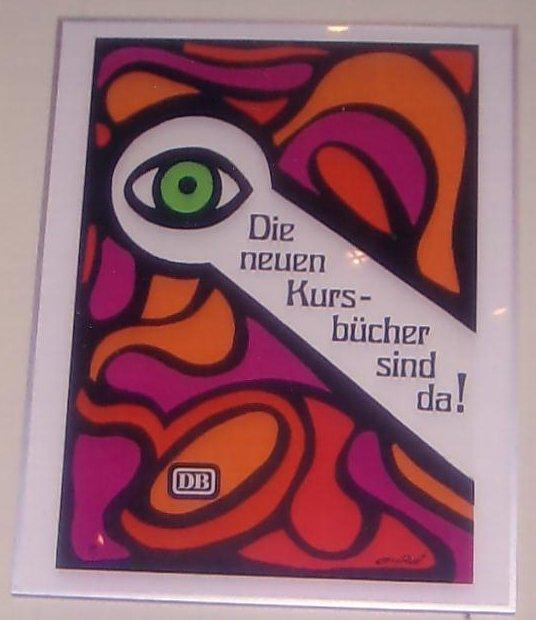 'Die neuen Kursbücher sind da!' Werbung der Deutschen Bundesbahn, 1969, (Ferry Ahrlé)