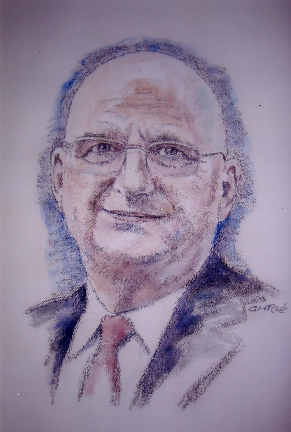 Ferry Ahrlé porträtiert Walter Huber, den Vorstands-Chef der Bethmann Bank