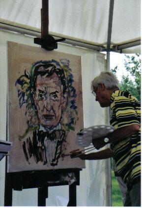 Walter Renneisen als Peter Josef Lenné, porträtiert von Ferry Ahrlé